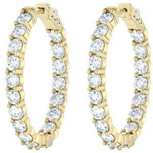 4.68 Carats out in sparkling diamonds HOOP earring